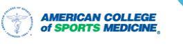 American Council of Sports Medicine